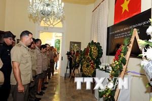 Lãnh đạo Cuba bày tỏ niềm tiếc thương Chủ tịch nước Trần Đại Quang