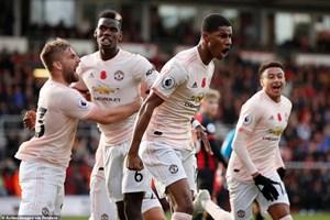 Premier League: M.U chiến thắng, Arsenal và Liverpool chia điểm