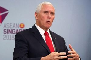 Phó Tổng thống Mỹ Pence kêu gọi đưa ra tuyên bố về hạt nhân