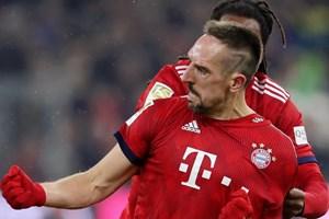 Ribery tỏa sáng, Bayern thắng nhọc nhằn vượt ải RB Leipzig