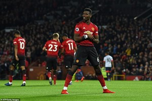 Pogba lập cú đúp, Manchester United thắng trận thứ 3 liên tiếp
