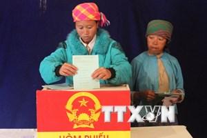 Hà Giang bầu đủ số lượng đại biểu Quốc hội và đại biểu HĐND