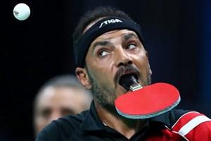 Mất đôi tay, vận động viên Ai Cập ngậm vợt bóng bàn để thi đấu