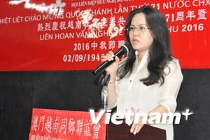 Cộng đồng người Việt Nam tại Macau míttinh mừng Quốc khánh