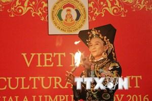Trình diễn thực hành tín ngưỡng thờ Mẫu của người Việt tại Malaysia