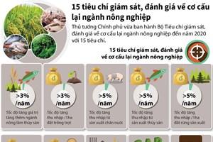 [Infographics] 15 tiêu chí đánh giá về cơ cấu lại ngành nông nghiệp