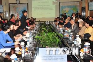 Gặp mặt các cán bộ ngoại giao dịp kỷ niệm 45 năm ký Hiệp định Paris