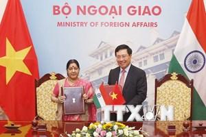 Việt Nam-Ấn Độ bàn về một số diễn biến gần đây tại Biển Đông