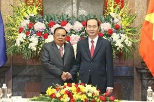 Lào gửi điện chia buồn về việc Chủ tịch nước Trần Đại Quang từ trần