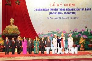 Toàn cảnh lễ kỷ niệm 70 năm Ngày truyền thống ngành kiểm tra Đảng