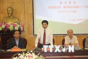 Doanh nghiệp Nhật Bản tìm hiểu môi trường đầu tư tại Hà Nam