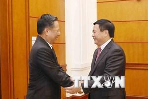 Đoàn đại biểu Hội đồng Khoa học Xã hội Quốc gia Lào thăm Việt Nam