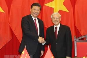 Điện mừng kỷ niệm 69 năm thiết lập quan hệ ngoại giao Việt-Trung