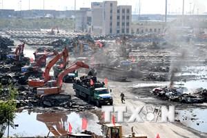 Hoàn tất việc dọn sạch lượng nước thải trong vụ nổ Thiên Tân