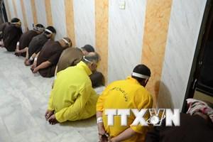 Iraq tử hình nhiều phần tử Hồi giáo cực đoan bị kết tội khủng bố