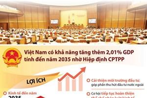 [Infographics] Quốc hội thông qua Nghị quyết phê chuẩn CPTPP