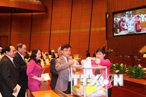 Quốc hội thông qua việc vẫn lấy phiếu tín nhiệm theo ba mức