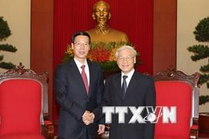Tổng Bí thư tiếp Phó Thủ tướng Trung Quốc Trương Cao Lệ