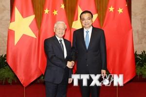 Tổng Bí thư hội kiến với Thủ tướng Quốc vụ viện Trung Quốc