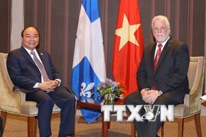 Thủ tướng: Việt Nam coi trọng quan hệ hợp tác với bang Québec