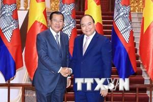 Việt Nam-Campuchia nhất trí sớm ký kết Hiệp định Thương mại biên giới
