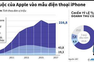 Sự lệ thuộc kinh doanh của Apple vào các mẫu điện thoại iPhone
