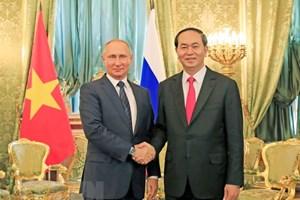 Tổng thống Nga Putin: Ký ức về Chủ tịch Trần Đại Quang sẽ còn mãi