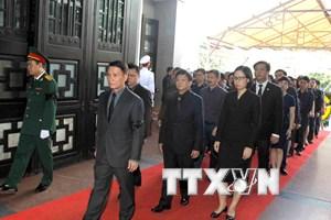 Hình ảnh đoàn TTXVN viếng Chủ tịch nước Trần Đại Quang