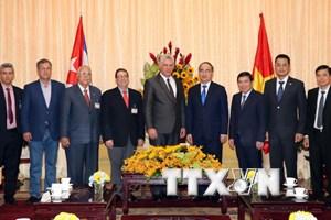 Bí thư Thành ủy Thành phố Hồ Chí Minh hội kiến Chủ tịch Cuba
