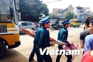 [Video] Clip hiện trường vụ máy bay huấn luyện bị rơi ở Hòa Lạc