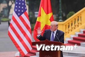 Chủ tịch nước và Tổng thống Hoa Kỳ chính thức họp báo sau hội đàm