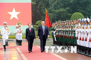 [Photo] Tổng thống Donald Trump thăm cấp Nhà nước tới Việt Nam