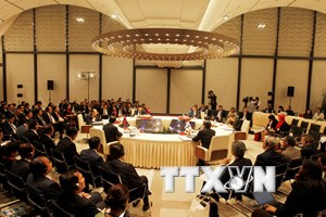 [Photo] Hội nghị Cấp cao hợp tác Khu vực Tam giác phát triển CLV 10