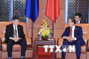 Thủ tướng Nguyễn Xuân Phúc tiếp Tổng thư ký ASEAN Lim Jock Hoi