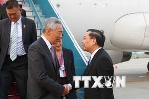 Thủ tướng Singapore Lý Hiển Long đến Hà Nội tham dự WEF ASEAN 2018