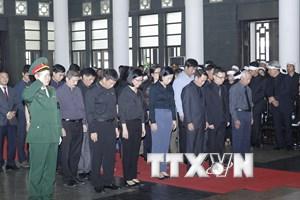 Hình ảnh đoàn Thông tấn xã Việt Nam viếng nguyên Tổng Bí thư Đỗ Mười