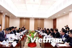 Tổng Bí thư, Chủ tịch Lào tiếp Đoàn đại biểu cấp cao Việt Nam