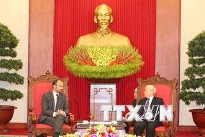 Tổng Bí thư, Chủ tịch nước Nguyễn Phú Trọng tiếp Thủ tướng Pháp