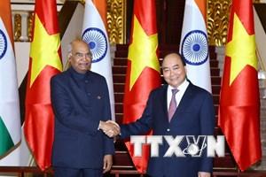 Thủ tướng Nguyễn Xuân Phúc hội kiến Tổng thống Ấn Độ Nath Kovind