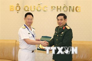Thượng tướng Phan Văn Giang tiếp Đoàn Bộ Quốc phòng Nhật Bản