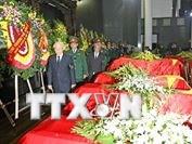 Tổ chức trọng thể Lễ tang quân nhân hy sinh trong vụ rơi máy bay