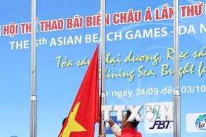 Lễ thượng cờ Đại hội thể thao bãi biển châu Á tại Đà Nẵng