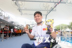 Đoàn Việt Nam thiết lập nhiều kỷ lục mới ở ASEAN Para Games