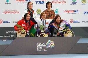 """ASEAN Para Games 2017: """"Kình ngư"""" Vi Thị Hằng mang về HCV đầu tiên"""