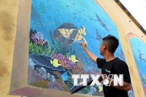 Quảng Ngãi: Thêm một con đường bích họa rực rỡ ở huyện đảo Lý Sơn