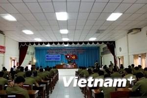 Khai giảng lớp tiếng Việt cho cán bộ, chiến sỹ Bộ An ninh Lào
