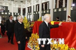 [Photo] Toàn cảnh lễ truy điệu nguyên Tổng Bí thư Đỗ Mười