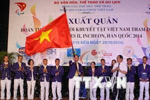 Lễ xuất quân đoàn thể thao người khuyết tật dự Asian Para Games 2