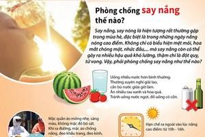 [Infographics] Những cách phòng chống say nắng, say nóng hiệu quả