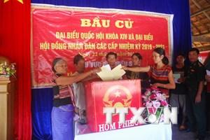 Ba tỉnh công bố kết quả bầu cử đại biểu Quốc hội và HĐND